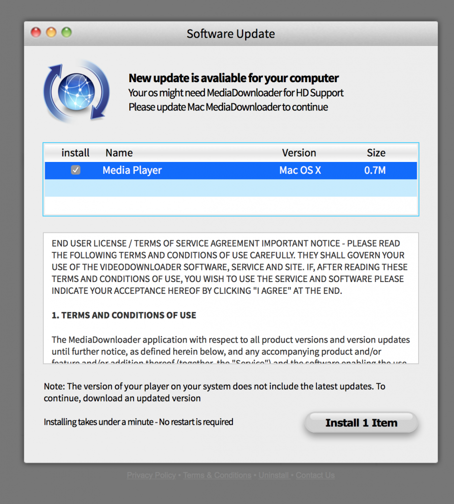 new apple software update for mac
